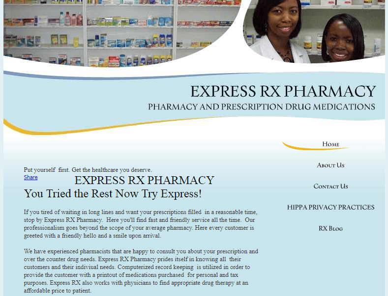 Express Rx Pharmacy – Quick and Friendly Customer Service