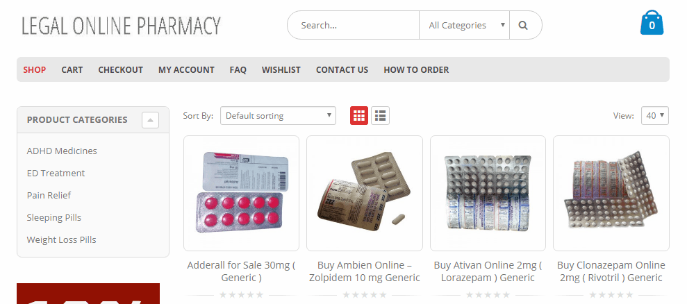 A Pharmacy Website with Several Problems