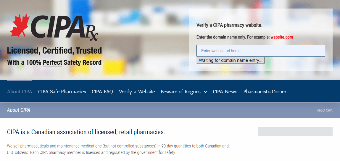 An Association made up of Licensed Canadian Pharmacies
