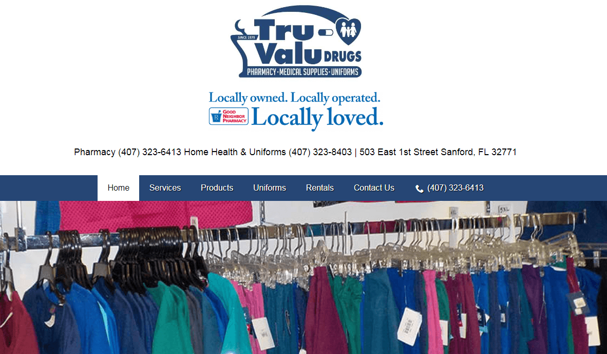 Tru-Valu Drugs Website