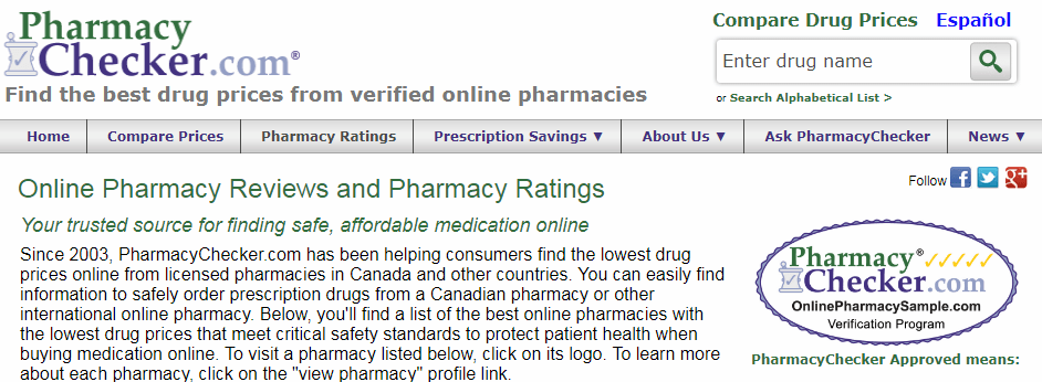 Find and Verify different Online Pharmacies