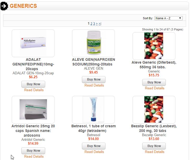 Mexican Drug Store Generics