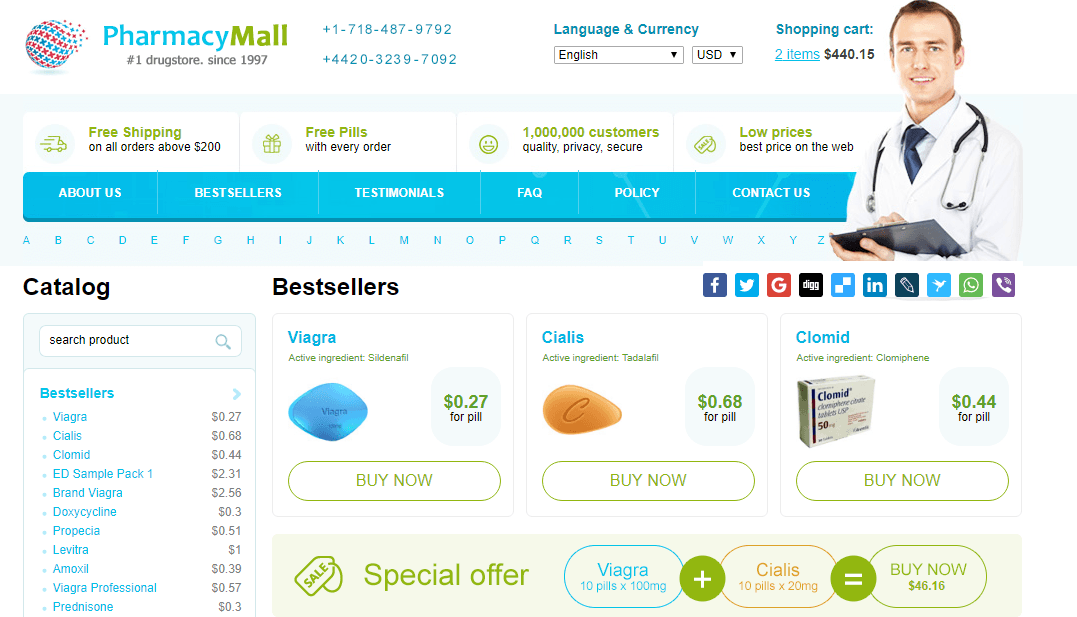 Viagra and Cialis are the most sought-after erectile dysfunction medications that are available in most of the reputable online pharmacies