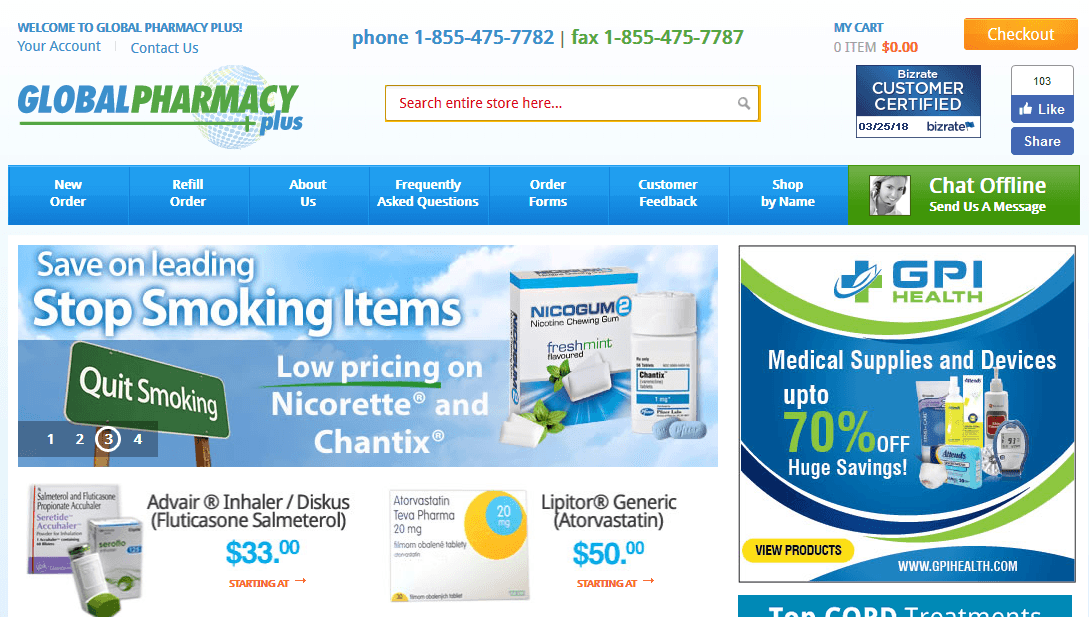 Global Pharmacy – One Popular Online Store for Brand and Generic Medicines